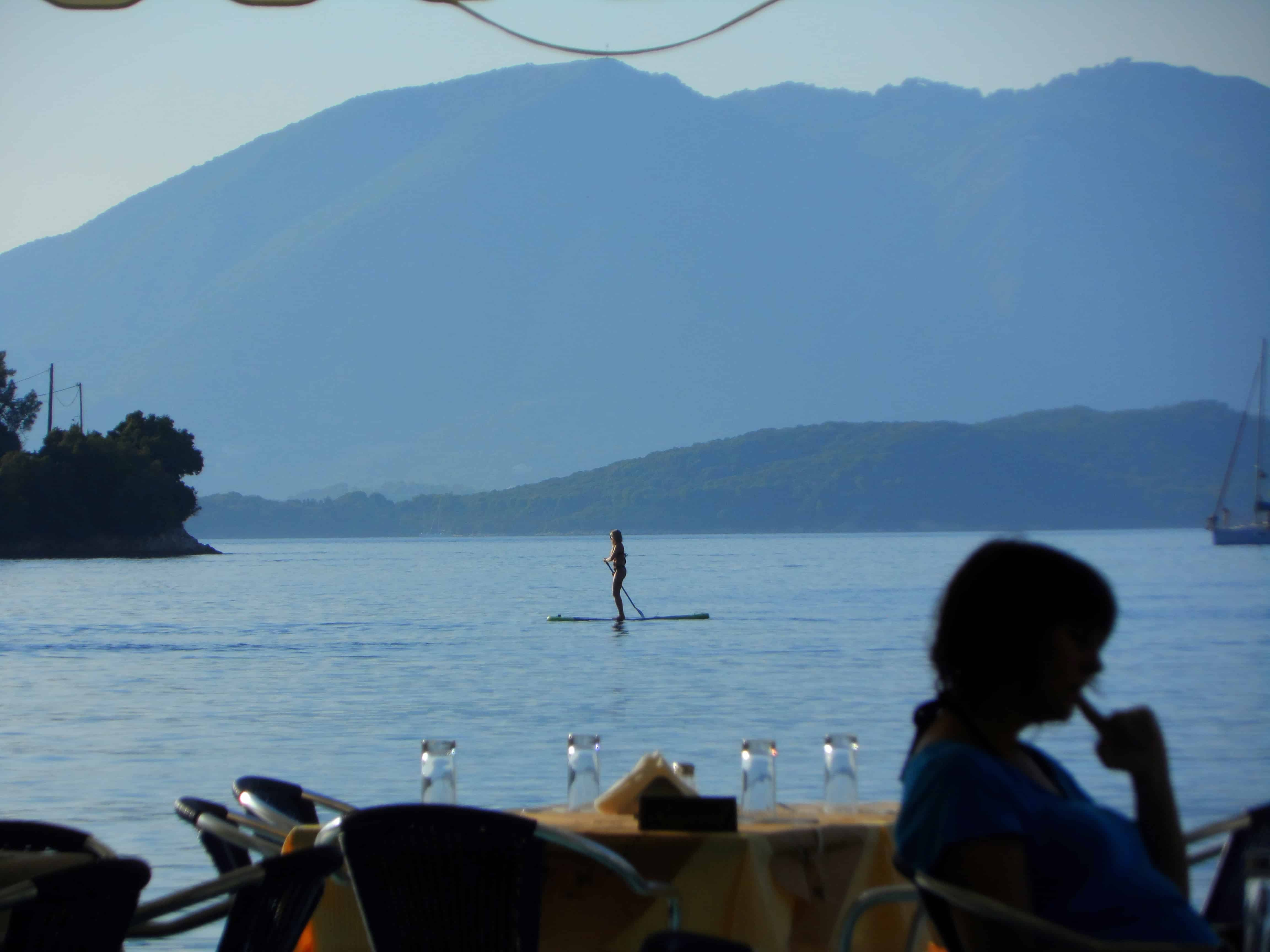 Swimming-and-eat-at-Spilia Ionian