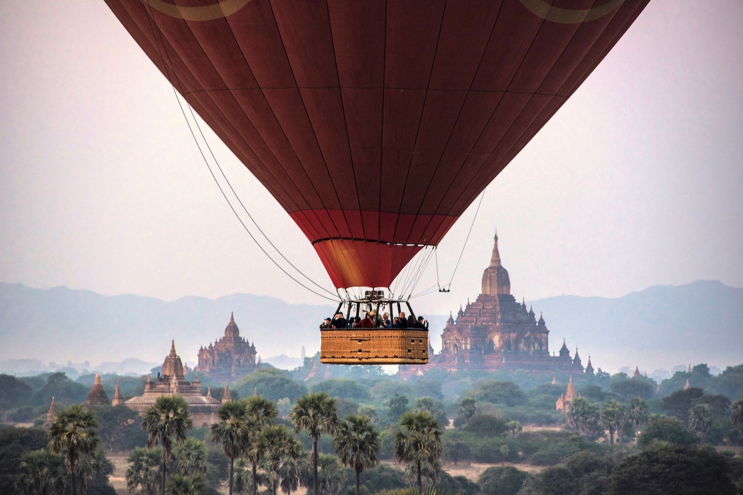 Ballooning Over Bagan's 2,000 Temples • We Blog The World