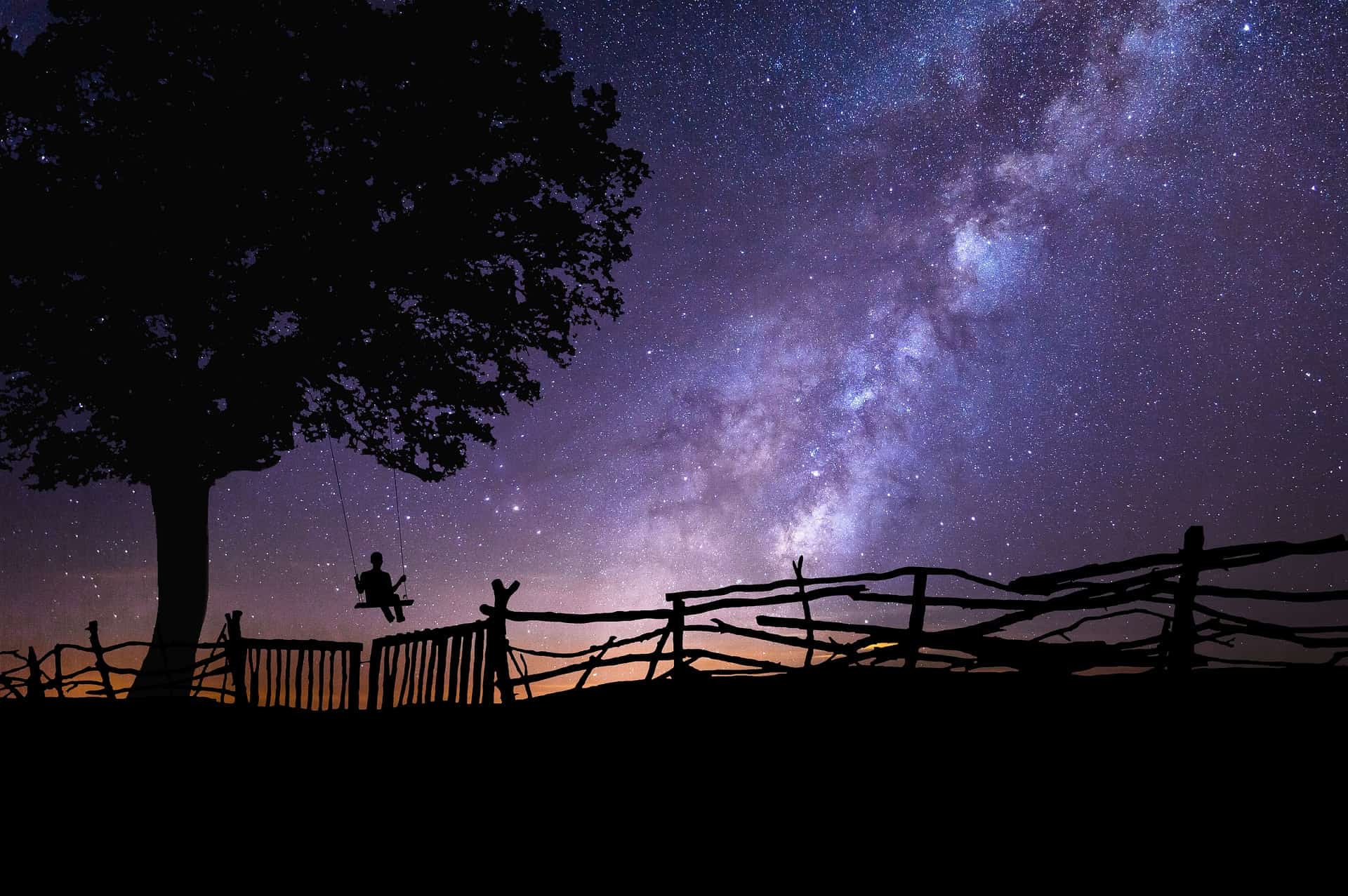 Night sky as a symbol of the intersection of science and spirituality