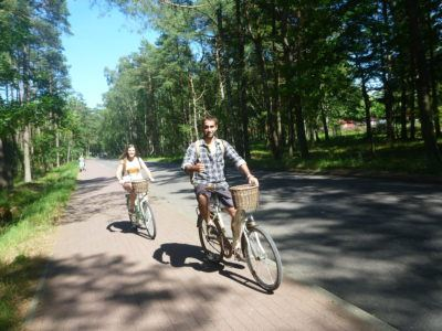 Cycling through the Forest at Słowiński National Park
