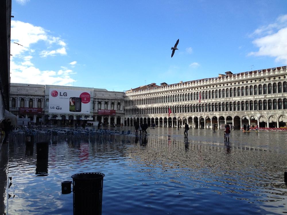 Flooded Piazza San Marco, Venice - Venice Tourism