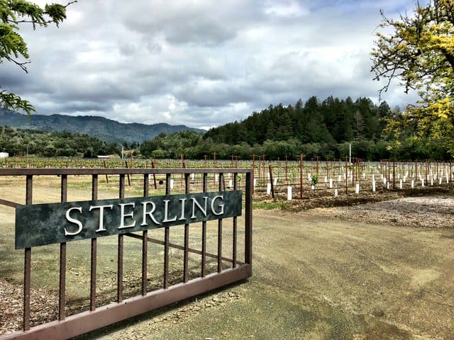 The entrance to Sterling Vineyards in Calistoga restaurants